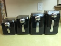 Black and silver Canisters