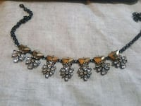 gold-colored and black beaded necklace Spring, 77386