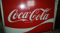 4.5x6 ft metal Coca Cola sign, vintage Rutherford, 07070