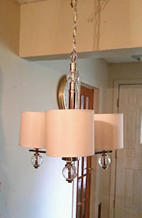 New 3-light chandelier with fabric shades