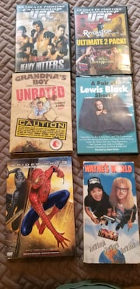DVD'S (5) and 1 VHS