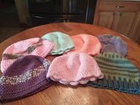 All 7 crochet knitted hats for $5