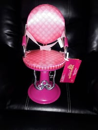 Sitting pretty salon chair for American girl dolls