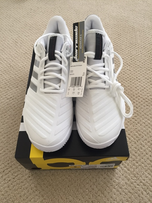 b1eaae896b6 Used Adidas Barricade 2018 BOOST - Tennis Men s Shoe Size 9.0 NEW for sale  in Berkeley