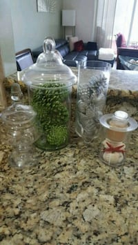 clear glass pitcher and drinking glasses Greenacres, 33413