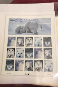 1998 Artic Animals - 33 cents of 15 Stamps Sheet Mint FV $4.95