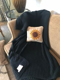 Pottery Barn cable knit throw Manhattan Beach