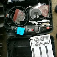 black and gray corded power tool with case Mississauga, L5J 4H2