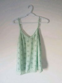 white and green cats spaghetti strap top Montreal, H1T