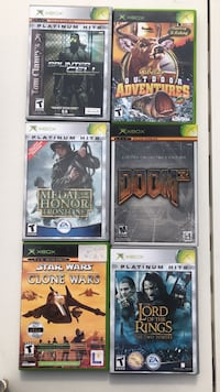 Six assorted xbox 360 game all for 15.00