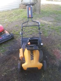 black and yellow push mower (electric) Norfolk