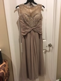 Beige prom dress.  Approximately size 10.  Altered from original size.  Length good for 5'3 or shorter.. Maili, 96792