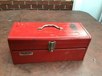 "Stack-on R-420 General Purpose Tool Box 20"" X 8-5/8\"" D X 8-5/8\"" H, Steel, Red Bristol, 19007"