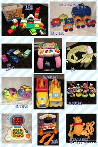 baby's assorted colors of plastic toys collage L'Assomption, J5W