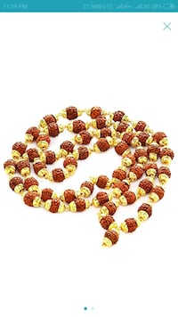 red and yellow beaded necklace Ahmedabad, 380005