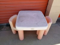 white and pink plastic table Huntington Beach, 92647