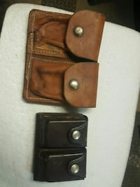 two brown and black leather cases Wills Point, 75169