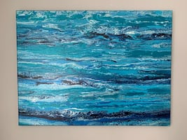 Acrylic abstract art painting