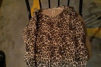 Cheetah long sleeves medium top