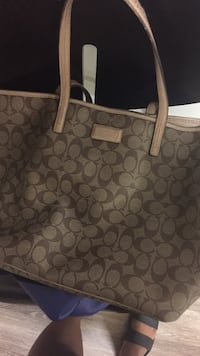 Brown monogrammed coach tote bag College Station, 77840
