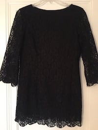 Designer black Lace mini dress // tunic. Size extra small (fits like a small). In excellent condition.  Huntington, 25701
