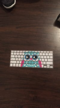 white, teal, and purple owl print computer keyboard silicone cover Lindenhurst, 60046