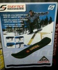 Temporary Sale. SURFACE SNOWSKATE  NOT USED/SEALED Pointe-Claire, H9R 4W3