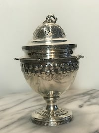 Antique Tiffany & Co Sugar urn with lid circa1856-1860 Jersey City, 07302