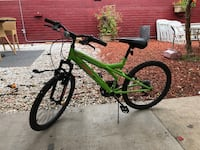 Green and black full-suspension bike pacific exploit Very good condition Los Angeles, 91411