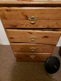 brown wooden 3-drawer chest Oklahoma City, 73111