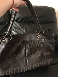 Black leather coach tote bag null, CT1 1PX