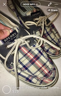 Adorable SPERRYS  top-sider womens size 6 used but loved London, N5W 1E8