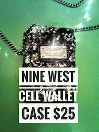 LIKE NEW  NINE WEST Black Sequence Wallet Case