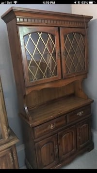 brown wooden cabinet with drawer Edmonton, T6C 2B8