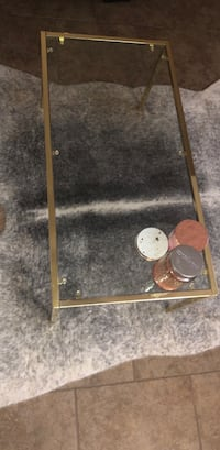 rectangular gold steel based glass-top coffee table Las Cruces, 88007