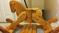 Hand crafted wooden rocking horse  Burlington, L7M 4G1
