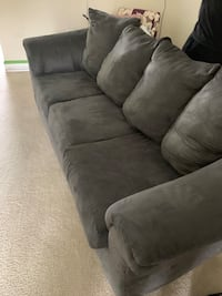 Suede Gray couch w/ pull out bed Washington