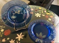"""Two 12"""" Glass platters"""