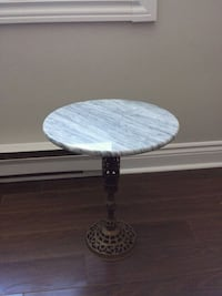 Small Antique Marble Top Table   Newmarket
