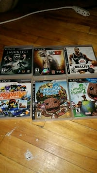 six assorted PS3 game cases Montréal, H2P 2E4