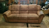 brown suede 3-seat sofa Frederick