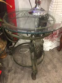 2 glasses coffee table