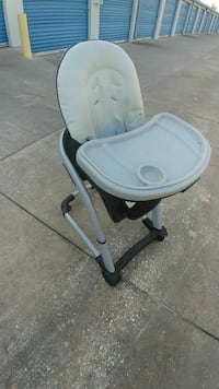 baby's white and gray highchair Leesburg, 34788