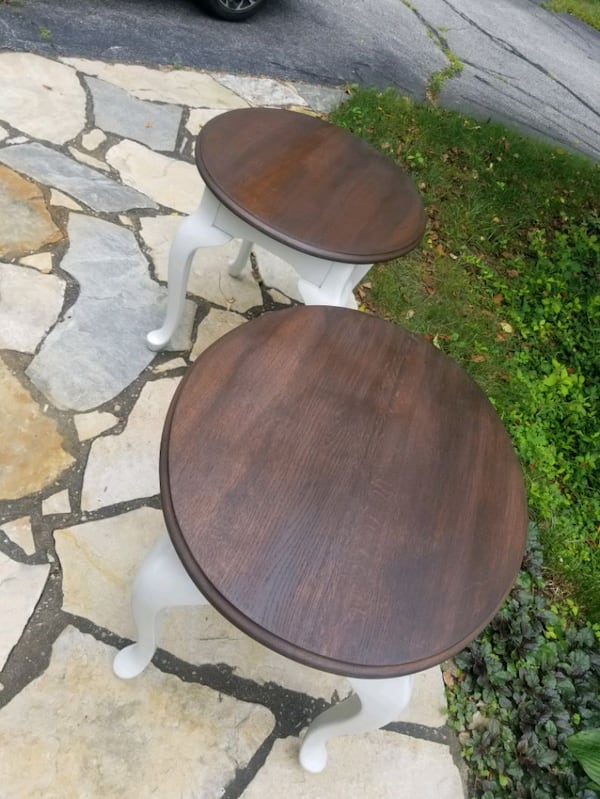 Rustic refinished side tables. d69bbc28-9e55-47e1-ab0f-a75c5e72c3cb
