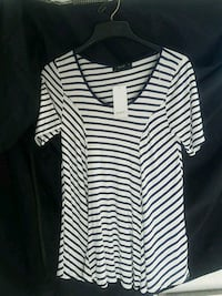 "NWT: ""Naif"" Navy Blue,White striped Blouse  Melbourne, 32934"