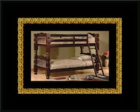 Twin wooden bunkbed frame  New Carrollton