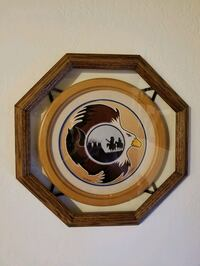 16 in diameter wall decor wood framed Victoria, V9A 6A6