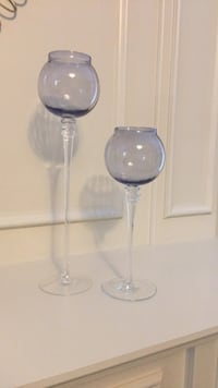 Two glass candle holders Pickering, L1V 7G8
