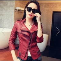 "Women's Red Leather Jacket ""M"" Miami, 33147"
