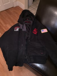 black and red zip-up jacket Brooklyn, 49230